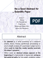 How to Write a Good ABSTRACT