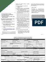 Formato de Información Para La Solicitud de Crédito (FO364 03)