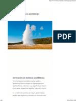 Energía Geotérmica - Información y Características