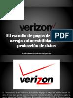 Ramiro Francisco Helmeyer Quevedo - El Estudio de Pagos de Verizon Arroja Vulnerabilidades en Protección de Datos