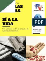 cartel contra uso sustancias