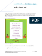 Create invitation