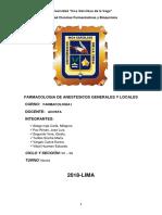Anestesicos Locales y Generales