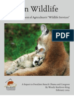 "War on Wildlife- The U.S. Department of Agriculture's ""Wildlife Services"""