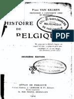 F.van Kalken - Histoire de Belgique