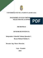 Informe Divisor de Potencia