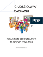 Reglamento Electoral Para Municipios Escolares