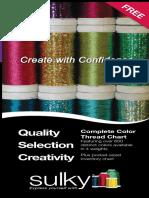 Sulky Thread  Color Charts