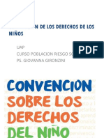 PSICOLOGIA DE POBLACIONES EN RIESGO - Convencion Derechos Del Niño