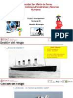 Project Management - Gestion de Riesgos