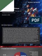 Nov 9, 2018 - II-VI Finisar Investor Presentation