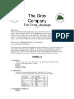 JRR Tolkien - Elven Language