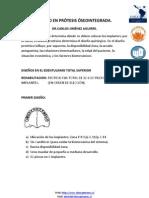 DISEÑO EN PRÓTESIS ÓSEOINTEGRADA - Dr. Carlos Jiménez A.