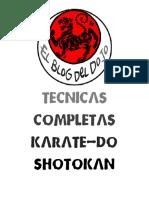 El Blog Del Dojo - Tecnicas Completas Karate-Do Shotokan