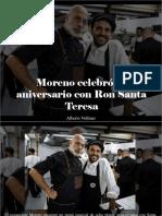 Alberto Vollmer - Moreno Celebró Su Aniversario Con Ron Santa Teresa