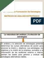 Matrices de Analisis Estrategico