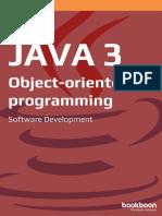 Java 3 Object Oriented Programming