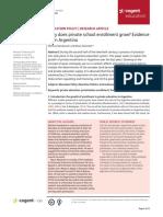 Narodowski  - why does private education grow