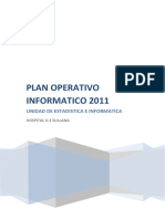 Plan Operativo Informatico 2011