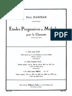 jeanJean Etudes Progressives Et Mélodiques Vol. 3