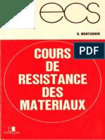 R.montagner-Cours de Résistance Des Matériaux-Eyrolles (1988)