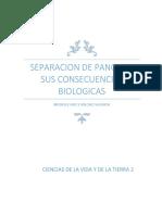 Separación de Pangea y Sus Consecuencias Biológicas MGWV