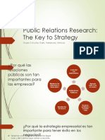 Public Relations Research the Key to Strategy