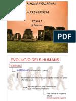 Tema 5 La Prehistòria