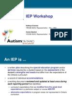 IEP Presentation Slide Show