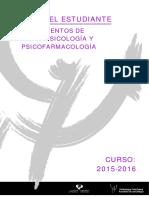 Fundamentos de Neuropsicologia y Psicofarmacologia 2015 2016
