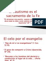 El Bautismo Es El Sacramento de La Fe