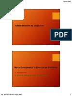 Unidad I Marco Conceptual de La Dirección de Proyectos