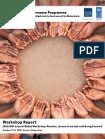 Workshop Report - 2018 EGP Annual Global Workshop