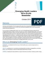 EHL Newsletter_October 2018