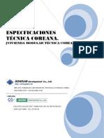 2. Especificaciones Tecnica Coreana 12.03.18