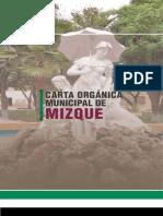 Carta Organica Municipal MIZQUE