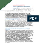 Administracion y Evaluacion Del Desempeño Sandra Urbina