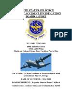 Informe del accidente del avión de la Guardia Nacional
