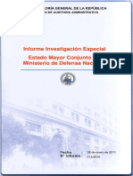 Informe Investigacion Especial 114 10 Estado Mayor Conjunto Ministerio de Defensa Nacional Enero 2011