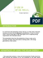 Solar Energy to OIL Wells