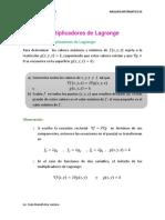 Multiplicadores de Lagrange (Tema 7)