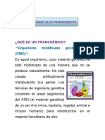 ALIMENTO transgénicos