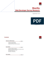 Web Developers & the Open Web - Survey Results