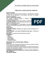 Temas de Estudio Para El Examen Final de Sociología Jurídica