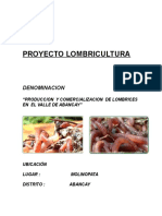 PROYECTO LOMBRICES