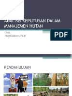 Kuliah Ix - Analisa Keputusan Dlm Manajemen Hutan Ok Update 2018 Rev 1