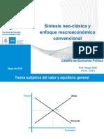 Teórico 16-5. Síntesis Neoclásica y Enfoque Macroeconómico Convencional (EP FFyH 2018)