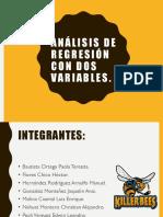 Análisis de Regresión Con Dos Variables