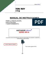 Sistema de Agitacion de Tanque Agitador