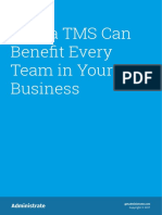 Administrate How a TMS Can Benefit Every Team in Your Business